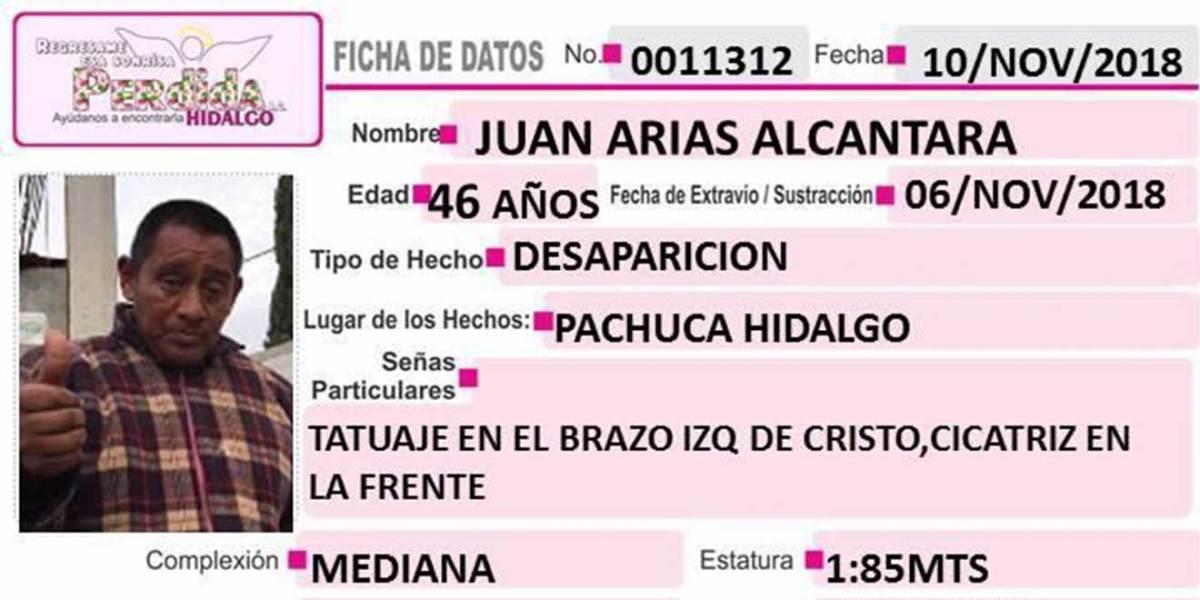 Se busca a Juan Arias Alcántara, desapareció en Pachuca