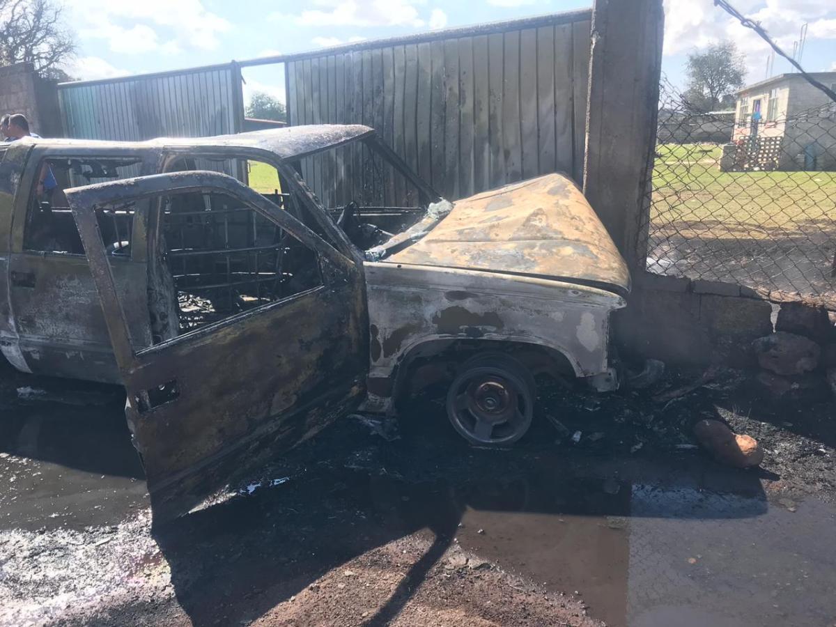Explotó camioneta que transportaba huachicol; muere el conductor