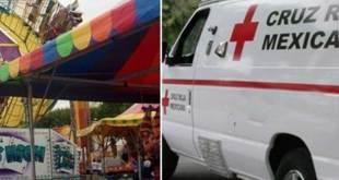 """Joven """"salió volando"""" de un juego de feria en Ecatepec"""