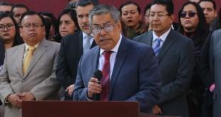 Protestan jueces y magistrados del Poder Judicial con sede en Pachuca contra tope salarial