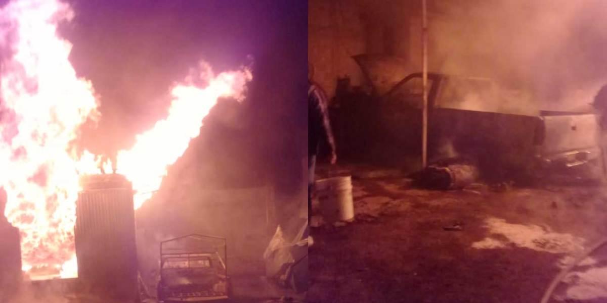 Encuentran contenedores en bodega que se incendió en Cuautepec