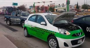 Localizan taxi con reporte de robo en Pachuca