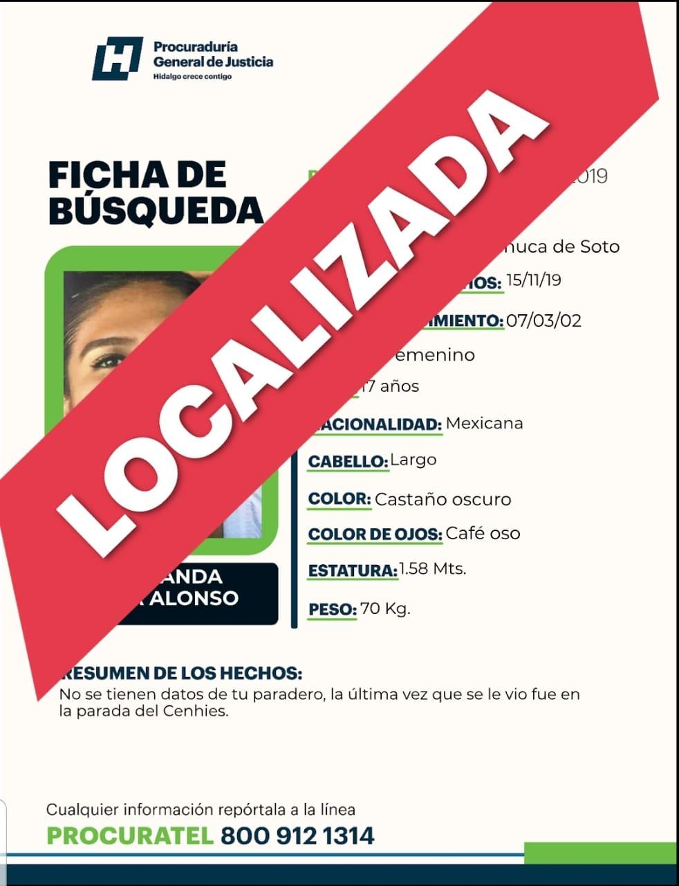 LOCALIZADA Se busca a Fernanda Lara Alonso, desapareció en Pachuca - Criterio Hidalgo