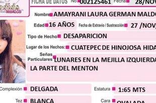 Amayrani Laura Germand Maldonado desapareció en Cuautepec