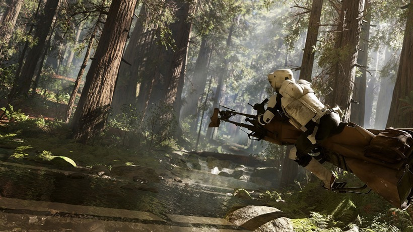 Star Wars Battlefront has speeder racing