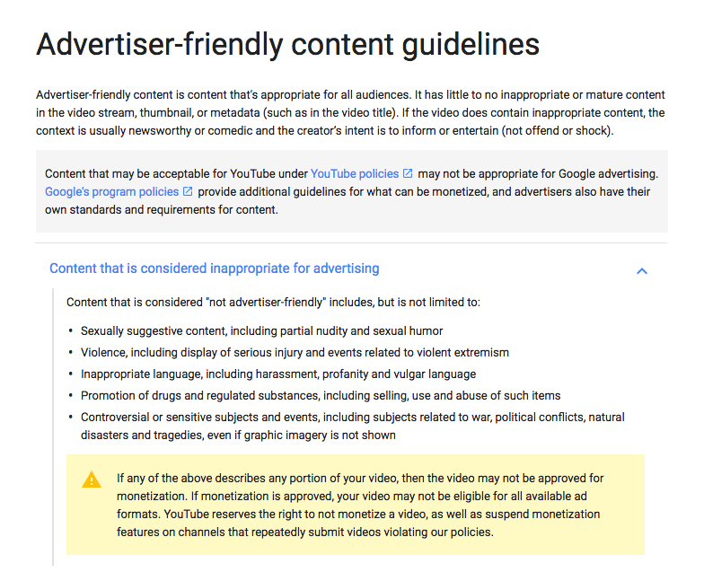 YouTube ToS