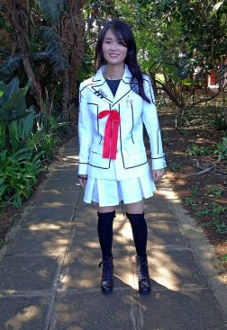 Sam as a Vampire Knight student.