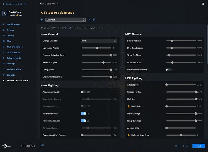 Assassin's Creed Origins is getting a god-mode control panel on PC