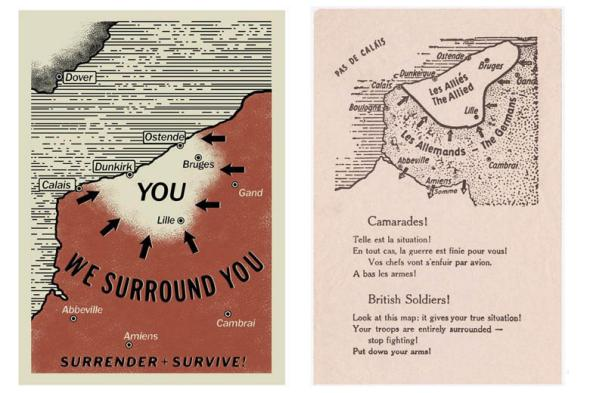 Actual pamphlets verse the original pamphlets - Dunkirk