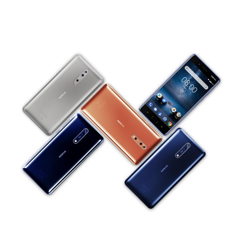 Nokia 8 color options