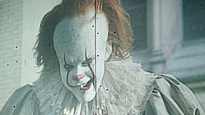 Pennywise on projector screen