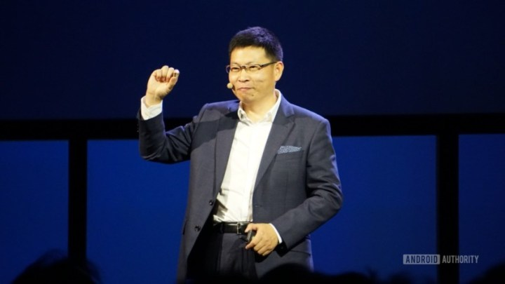 Richard-Yu-holding-Kirin-970-Image credit Android Authority