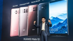 Richard Yu, CEO, Huawei Consumer Business Group unveiling HUAWEI Mate 10 at Launch Event in Munich, Germany