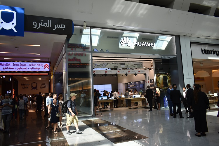 'Huawei Experience Store' in Dubai Mall near the Metro Link