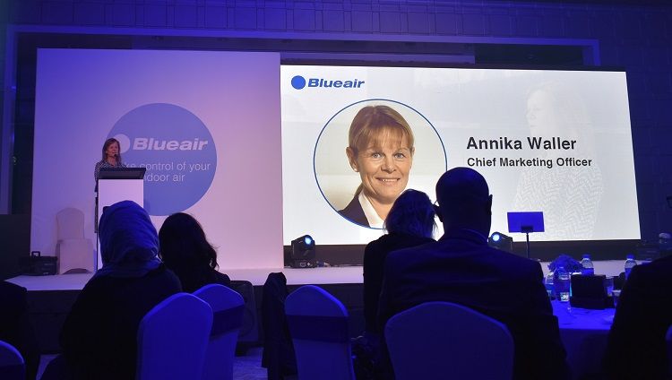 Annika Waller introducing the Blueair product range