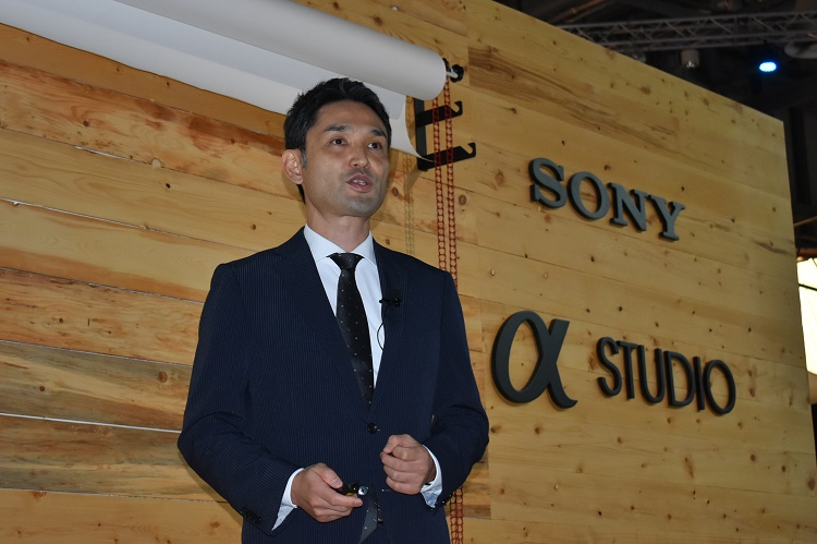 Toyozumi introducing the 3 Sony Products