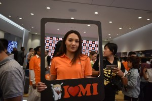 Click a snap with a Model at Xiaomi Store opening at City Center Deira
