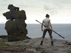 Rey training to be Jedi on island of Ahch-To