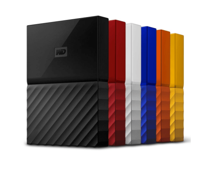 Western Digital - My Passport in different colors