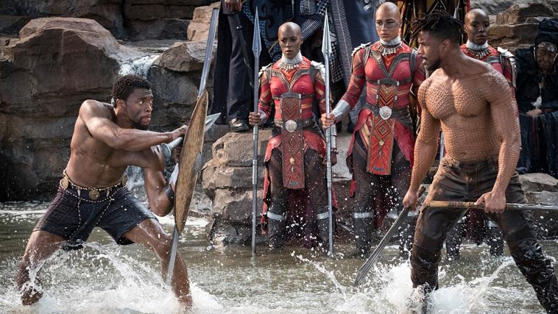 Fight for throne - T'challa vs Eric Killmonger