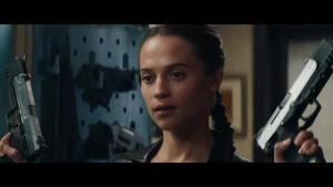 Alicia Vikander (Lara Croft) last shot in Tomb Raider 2018