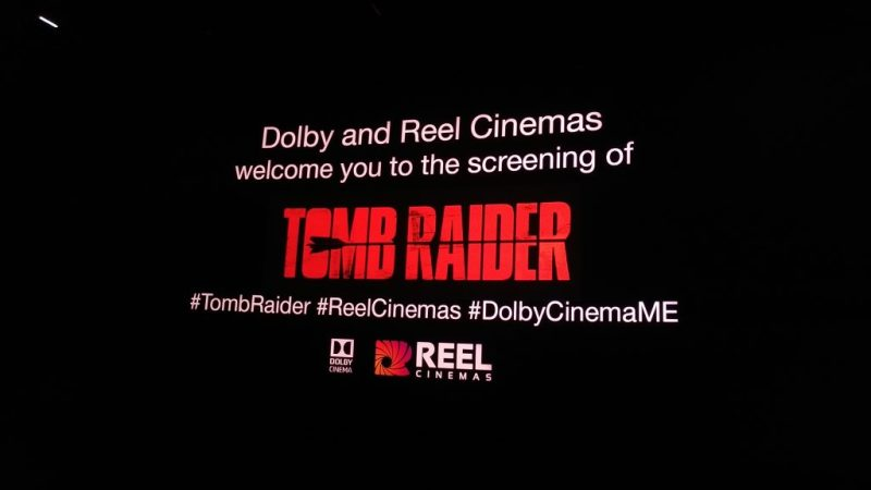 #TombRaider (2018) at Reel Cinemas Dubai Marina Mall