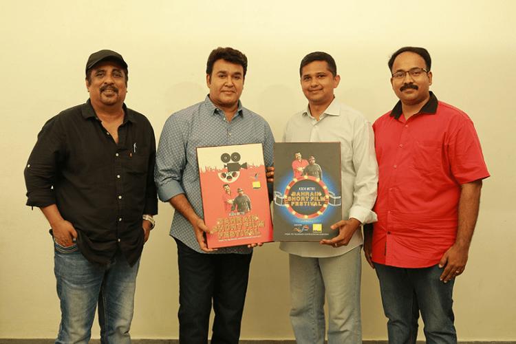 L-R-Malayalam-Tamil-superstar,-Raveendran,-Malyalam-super-Star-Mohanlal-with-Narandra-Menon,-MD,-Nikon-ME
