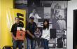 L-R-Mr-Tarek-Abdelrahman,Nikon-ME,-Malayalam-superstart-Raveendran-and-Blossom-Furtado,-Nikon-ME