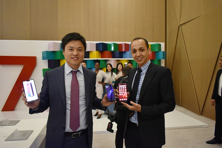 (L to R): OPPO F7 launch with Ivan Wu – General Manager at Oppo Gulf & Mohammad Naoufel Madih, Marketing Manager at OPPO Gulf