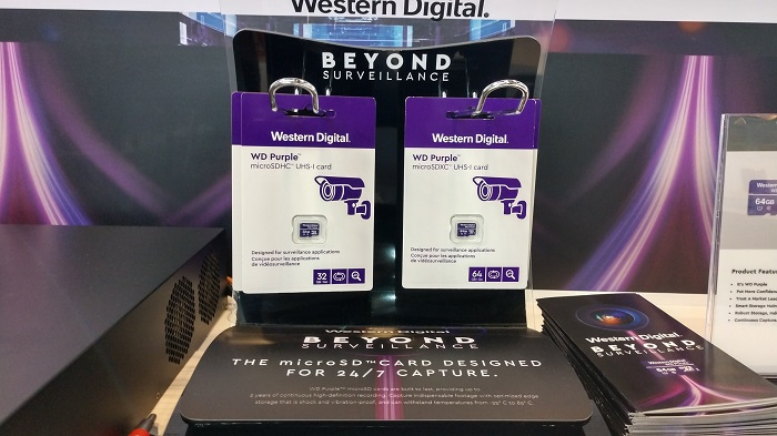 The Beyond Surveillance Purple microSD card
