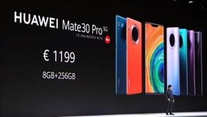 Huawei Mate 30 Pro 5G launch price
