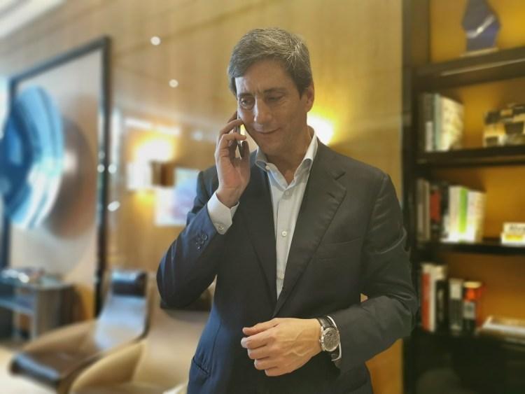 Davide Traxler, CEO of Parmigiani Fleurier with the Hijri Perpetual Calendar wristwatch