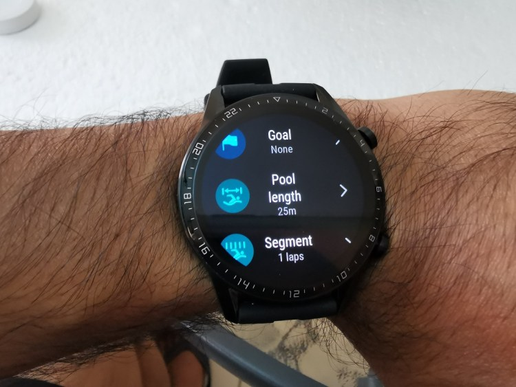 Huawei GT2-Watch- Swimming tracking options