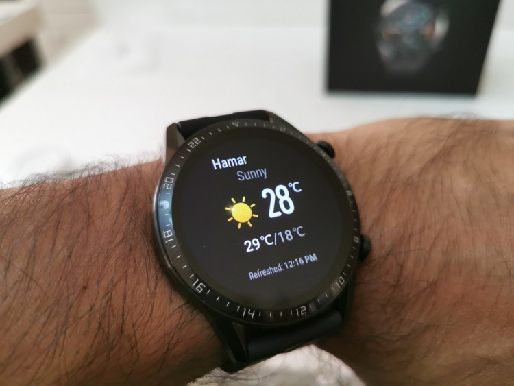 Huawei GT2- Weather Update on the Watch