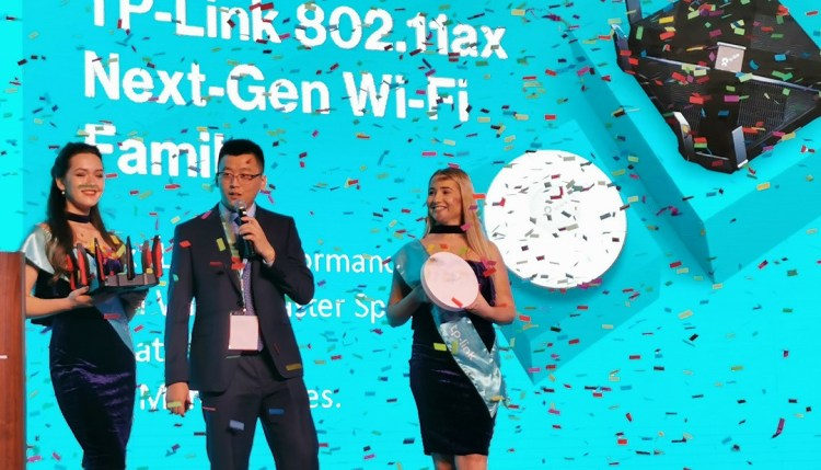 Lucas Jiang General Manager TP-Link MEA FZE introducing TP-Link 802.11ax Wifi 6 gen router
