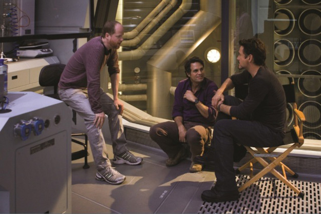 Joss Whedon Mark Ruffalo Robert Downey Jr tournage avengers