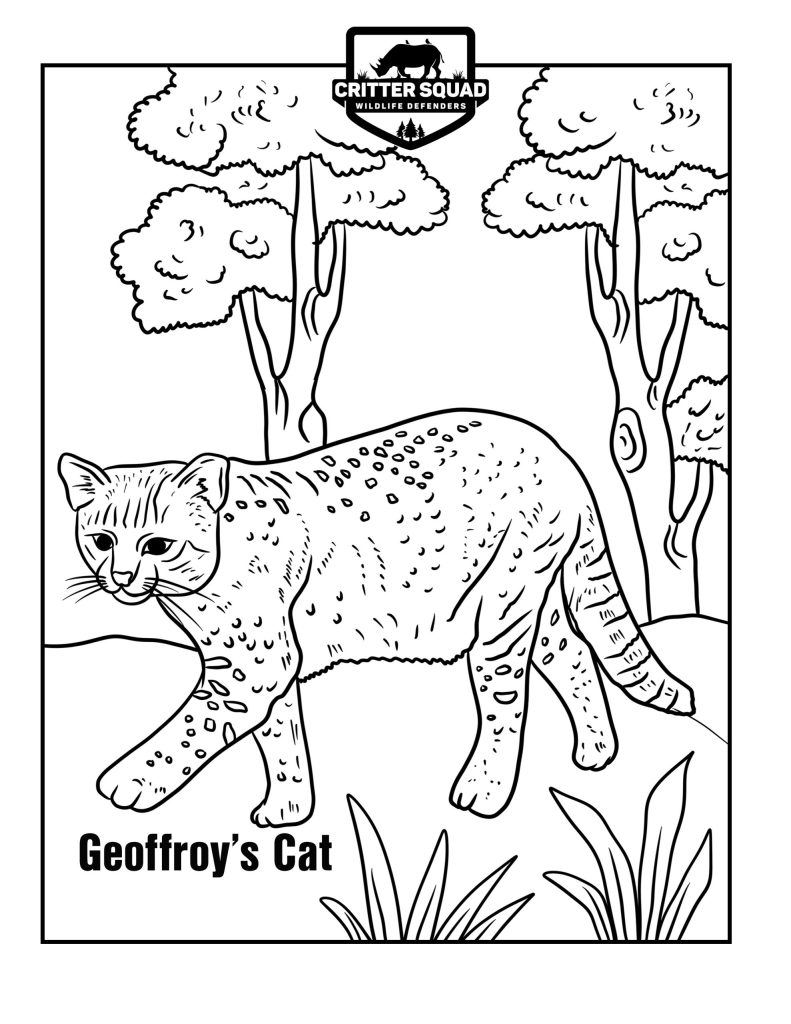geoffry's cat coloring page