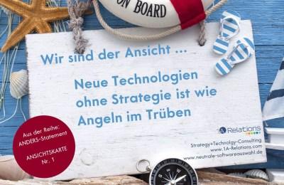 Ansichtskarte zum Thema Leadership, Technologie und User Experience