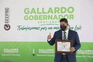El TESLP desechó dos impugnaciones presentadas por el PRIAN y sostiene que Ricardo Gallardo Cardona es el gobernador de San Luis Potosí