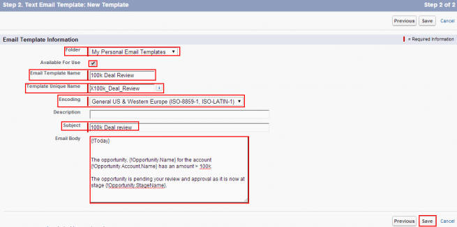 How to create new E-mail Template in salesforce