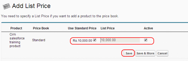 Adding product and price book to an opportunity in salesforce