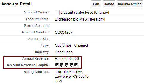 Enter name as Creating an Account Revenue Indicator