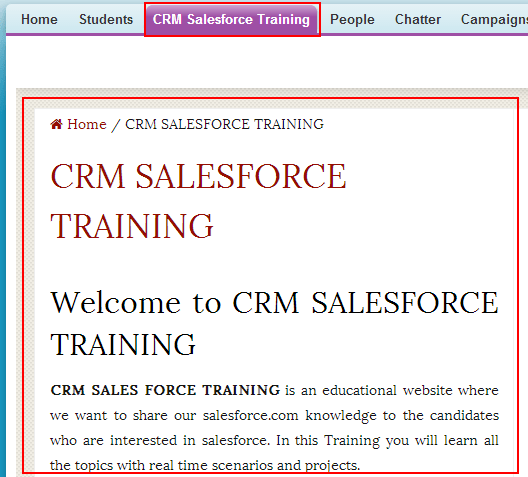 Building Custom Web Page Tab on Salesforce.com