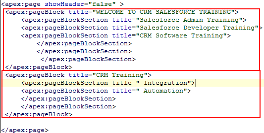 Visualforce pageblocksection Tag