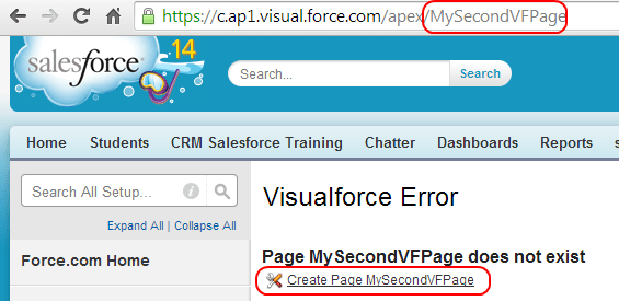How to create Visualforce page - Salesforce Tutorials