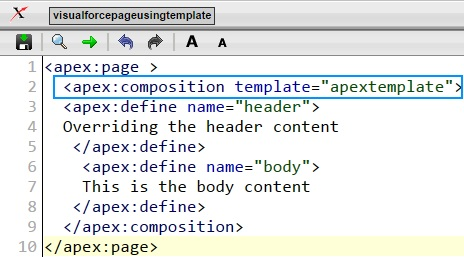 Defining Visualforce page as a Template