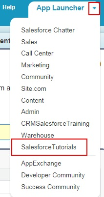 Creating new salesforce application