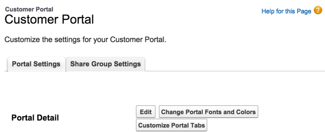Customising Salesforce Customer Portal Fonts and Colors