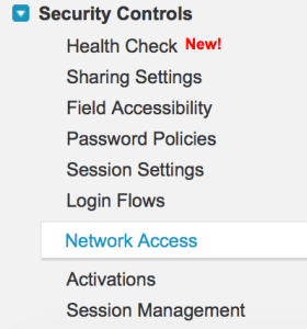 Network Based Security in Salesforce.com