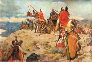 L'arrivée des 1ers croates sur l'Adriatique vue par Oton Ivekovic